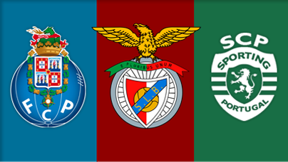 Les logos de Porto, Benfica et le Sporting Portugal auteur : Aniis