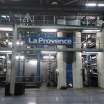 DR: La salle des machines pour l'impression du journal La Provence