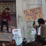 DR: Le blocus s'organise à l'entrée du lycée