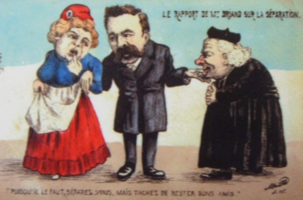 Caricature représentant l'initiative conciliatrice de Briand