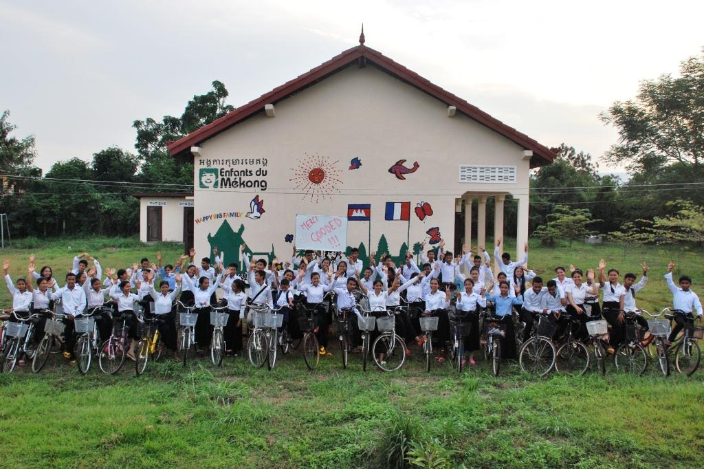170 vélos au Cambodge